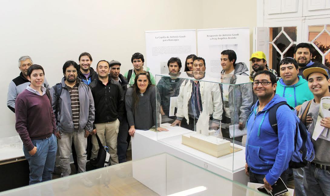 Estudiantes rancagüinos aprenden sobre procesos constructivos de las obras de Gaudí