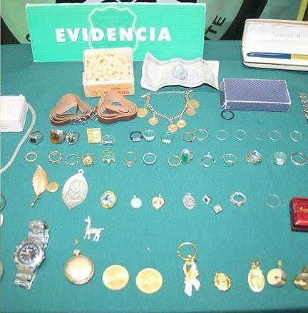 Carabineros recuperan joyas avaluadas en 25 millones de pesos