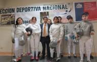 Seremi del Deporte hizo entrega de implementación a destacados exponentes de la esgrima