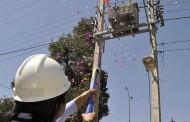 CGE realiza llamado a no lanzar cotillón ni challa metálica al tendido eléctrico