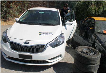 """""""Portonazos"""" Automóviles robados en Santiago son recuperados en Rancagua"""