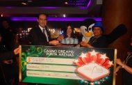 Casino Dreams entrega premio más grande de su historia