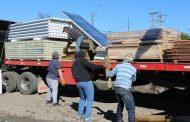 Onemi entrega mediaguas a familias afectadas por incendio en Rancagua