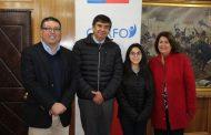 Autoridades Regionales despiden a estudiante de San Fernando que viaja a Canadá a través del programa Pingüinos Sin Fronteras de Corfo