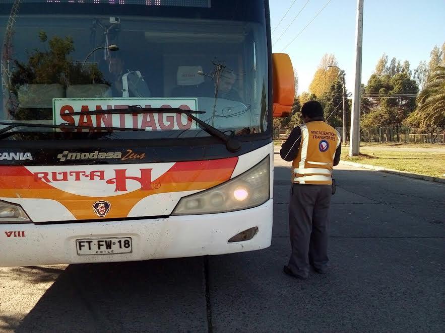 Seremi de Transportes Fiscaliza Buses Rurales e Interurbanos