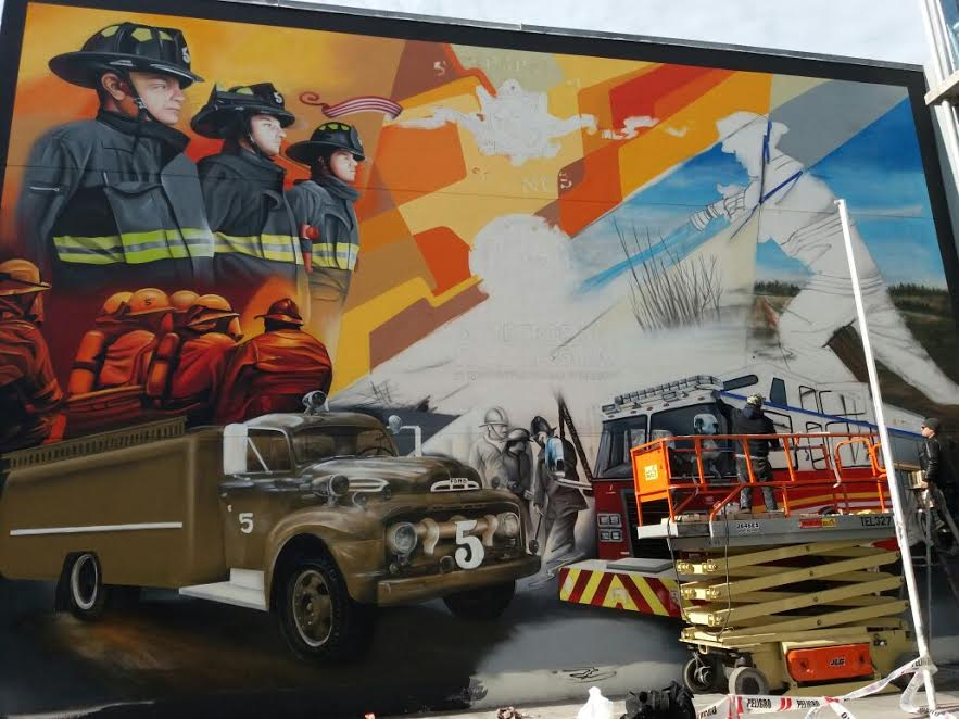 Bomberos de Rancagua contará con mural que conmemora los 50 años de fundación de la 5ª compañía