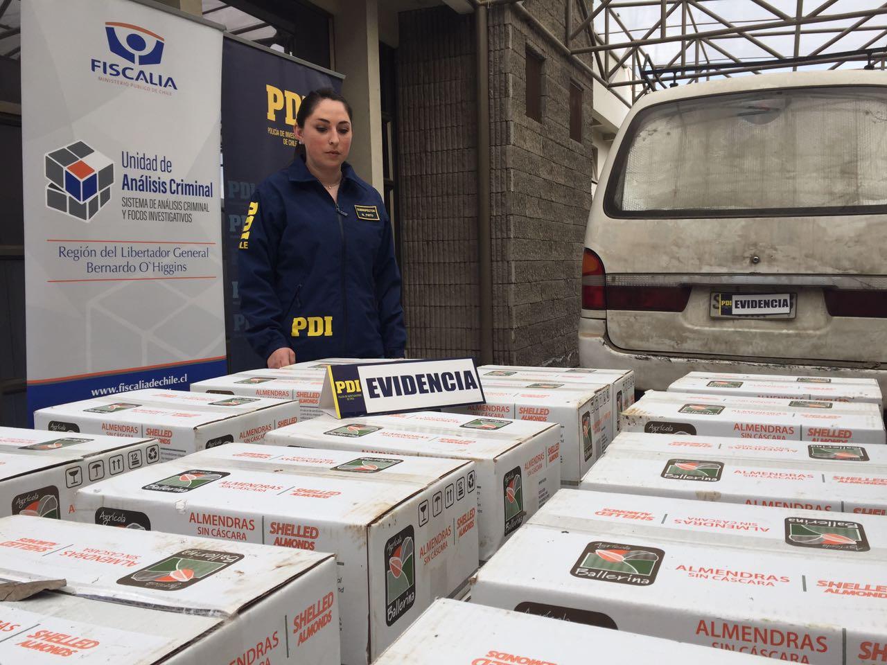 PDI Rancagua detiene a banda dedicada al robo de frutos secos de exportación