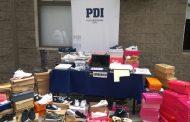 PDI detiene a mujer que falsificaba zapatillas en Rancagua: Fueron incautados 100 pares en su domicilio
