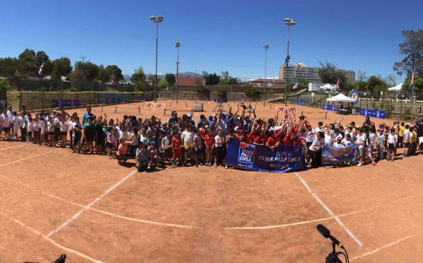 """Más de 150 menores de la Región de O'Higgins participaron de la """"Copa Tenis Para Chile"""""""