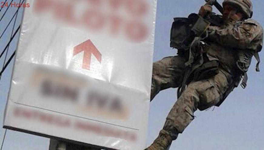 [Video] Paracaidistas del Ejercito quedan atrapados en cables de alta tensión en Machalí