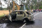 Tres personas fallecidas y dos heridas tras grave accidente vehicular en el sector de Las Cabras