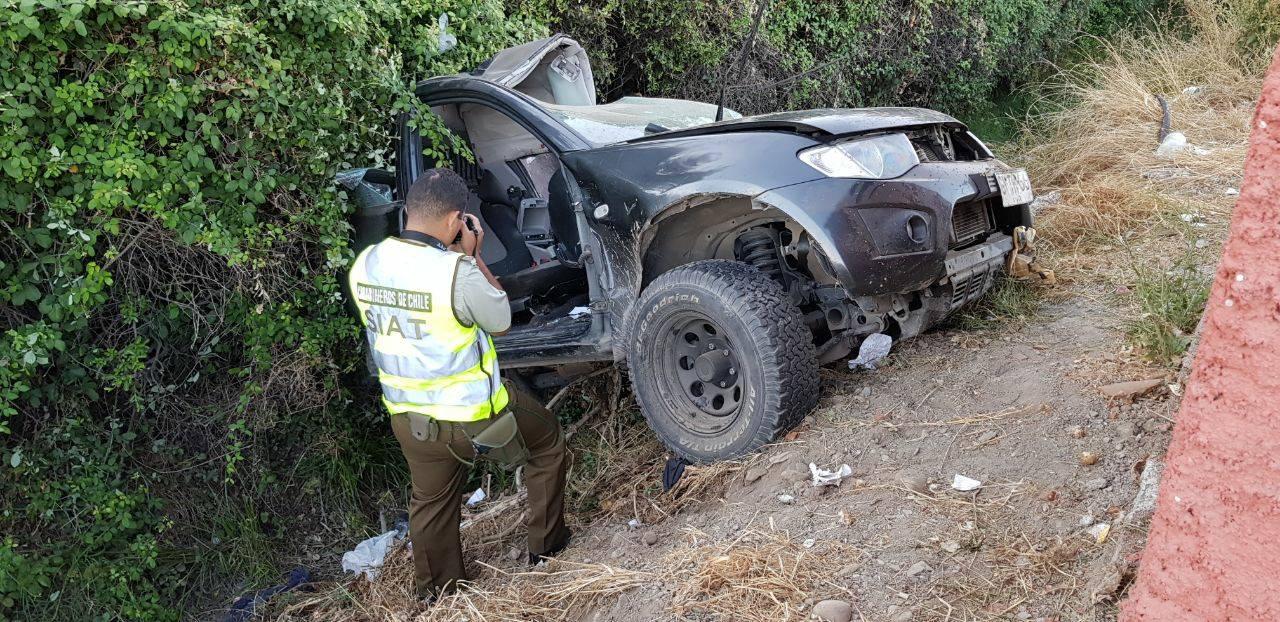 Violento accidente vehicular en Graneros deja a dos personas fallecidas y un herido de gravedad