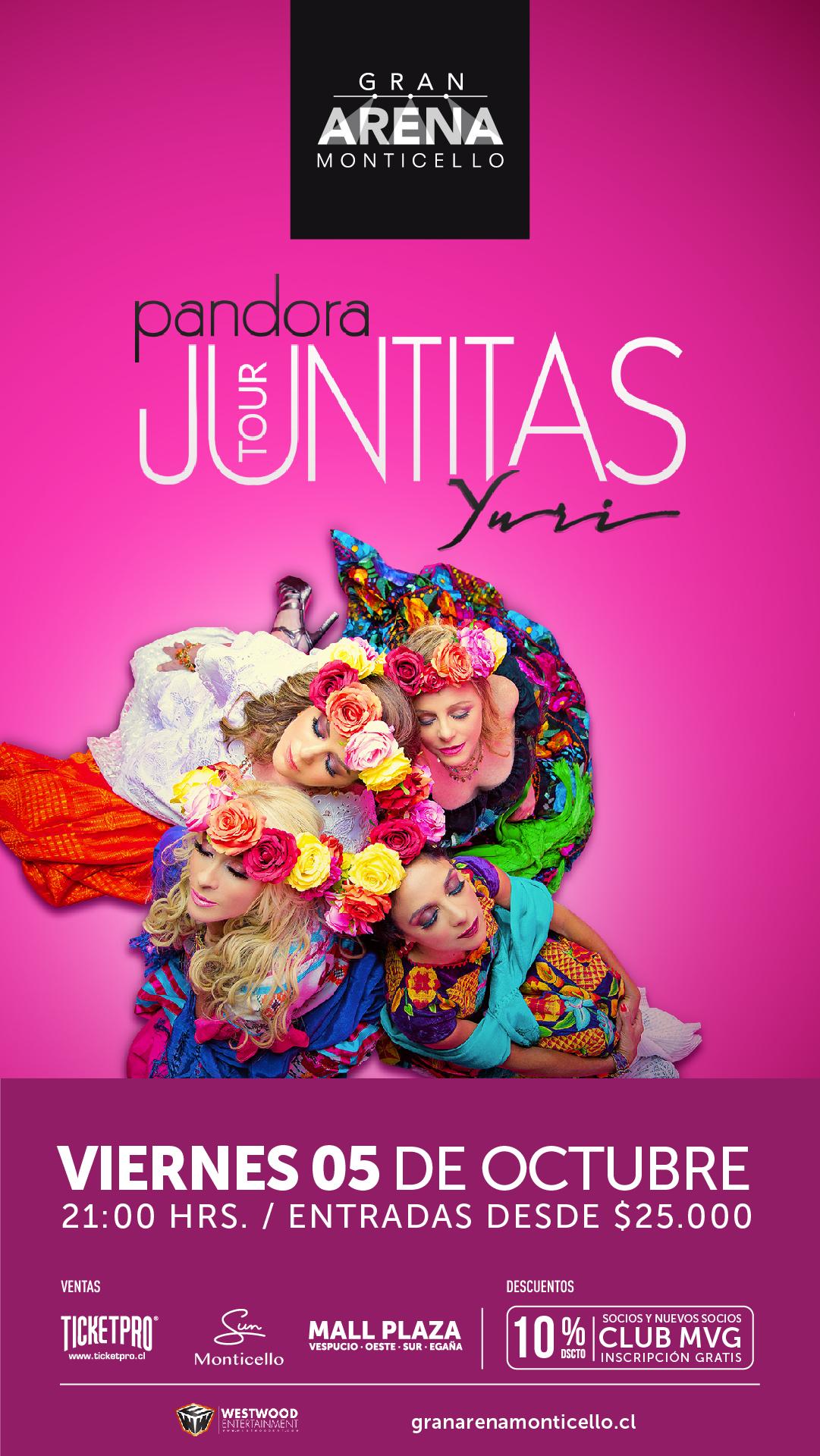 """Yuri y Pandora llegan a Gran Arena Monticello con """"Juntitas Tour"""""""