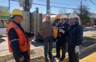 Fiscalizan instalaciones eléctricas previo a la celebración religiosa de Santa Rosa de Pelequén