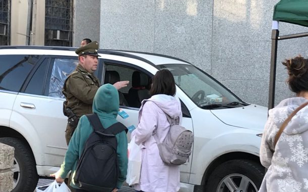 Carabineros realizan campaña preventiva para evitar el robo de vehículos y accesorios