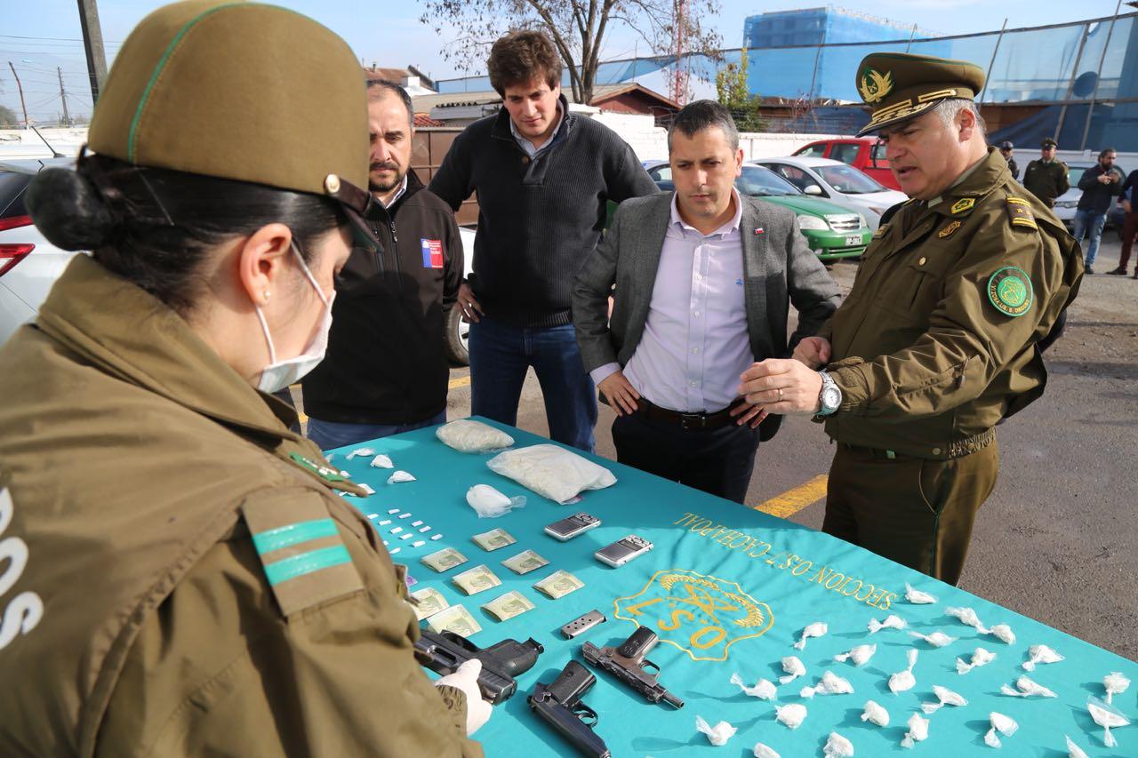 Incautación de droga, armas de fuego y 335 detenidos en ronda preventiva de Carabineros