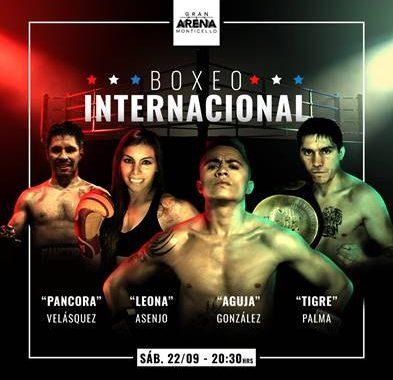 """Leona"" Asenjo, ""Aguja"" González, ""Pancora"" Velásquez y ""Tigre"" Palma disputarán tres títulos internacionales"