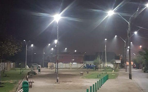 Renuevan luminarias en plazas de Rancagua