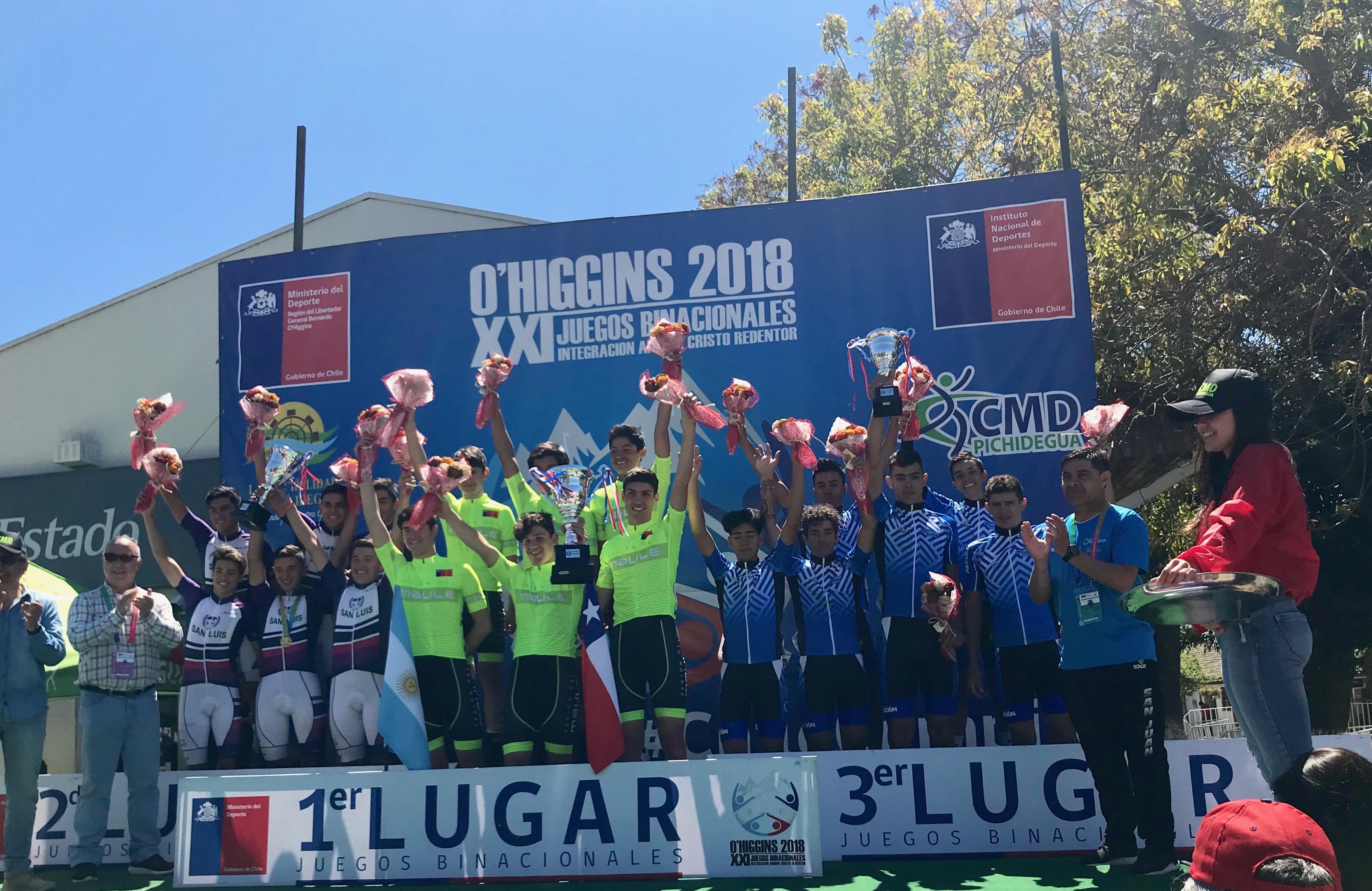 Juegos Binacionales: San Luis triunfa en ciclismo de fondo en Pichidegua