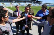 O'HIGGINS – COLO COLO: Intendente Masferrer inspeccionó Estadio El Teniente y se la jugó con resultado