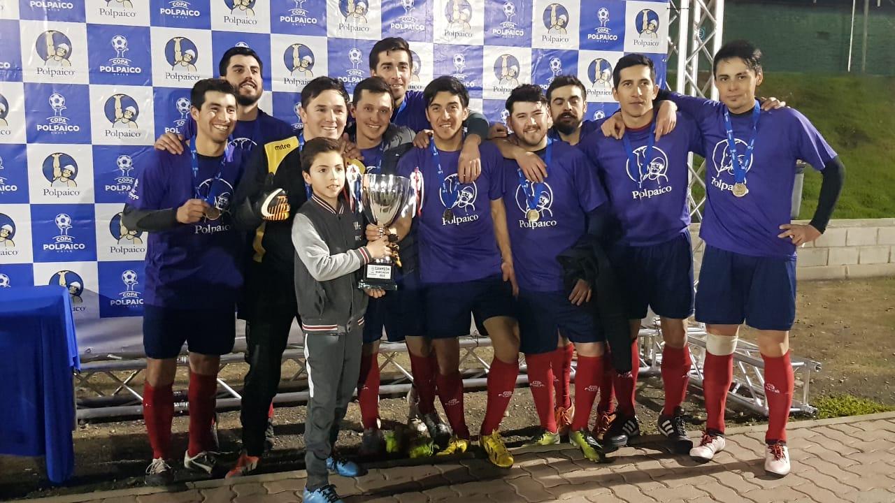 Equipo de la empresa Icil-Icafal se preparan para la gran final de Copa Polpaico