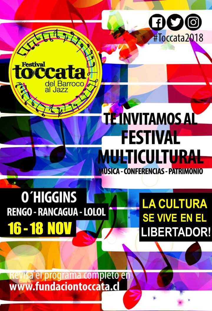 O'Higgins y Los Ríos tendrán nuevamente su Festival Toccata este 2018
