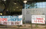 Estudiantes de Salud hicieron ocupación del frontis de la Universidad O'Higgins