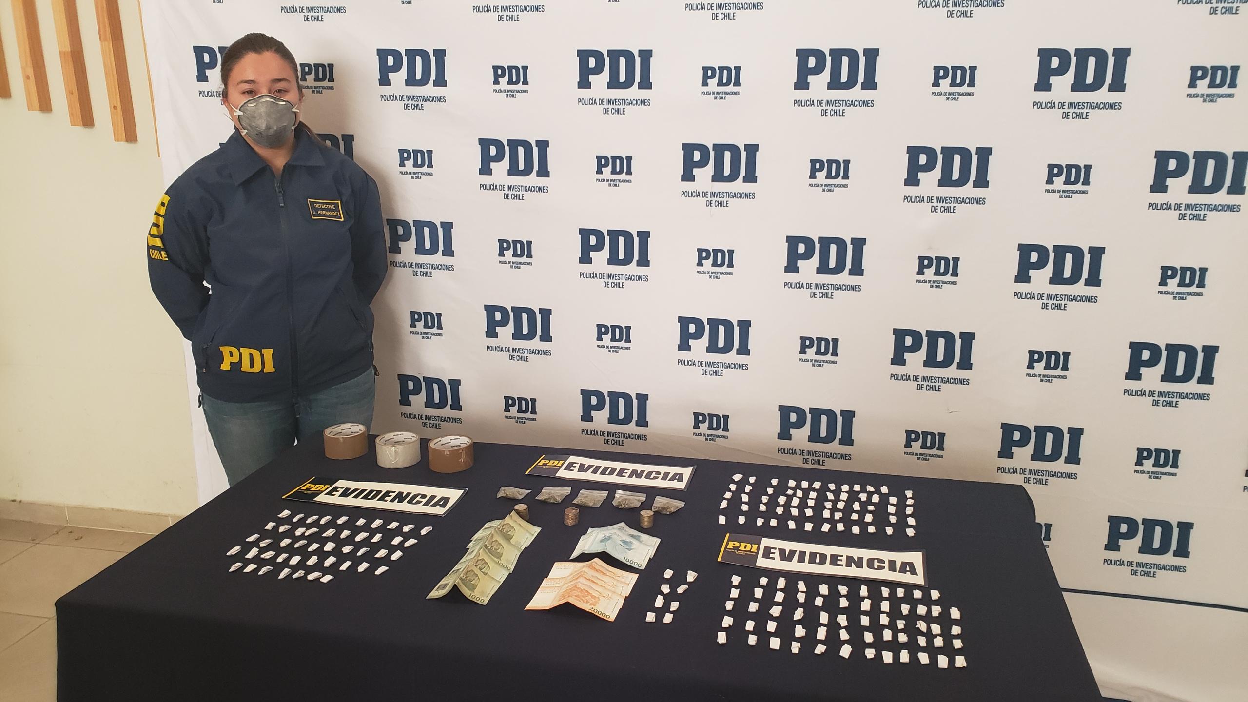 PDI detiene a cuatro personas por lanzar droga al interior de la cárcel de Rancagua