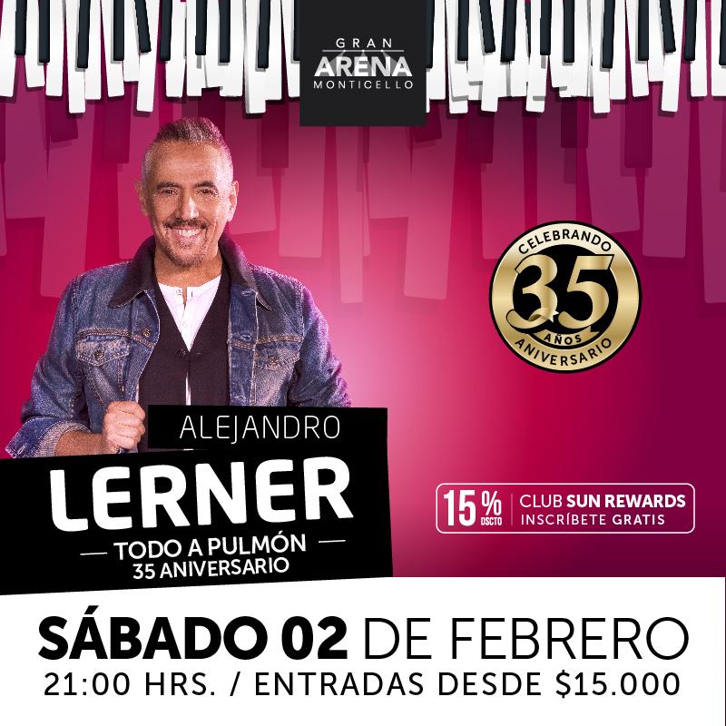 """Alejandro Lerner celebra los 35 años de """"Todo a Pulmón"""" en Gran Arena Monticello"""