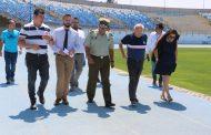 Autoridades fiscalizan Estadio El Teniente y aprueban medidas de seguridad para partido O'Higgins v/s U. de Chile
