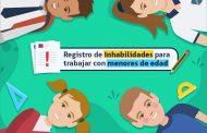Registro Civil llama a consultar el Registro  de Inhabilidades para Trabajar con Menores