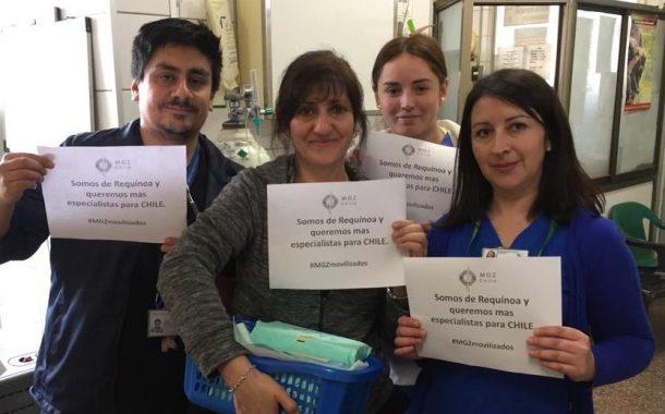 Colegio Médico de Rancagua respalda a MGZ en su segundo día de movilización