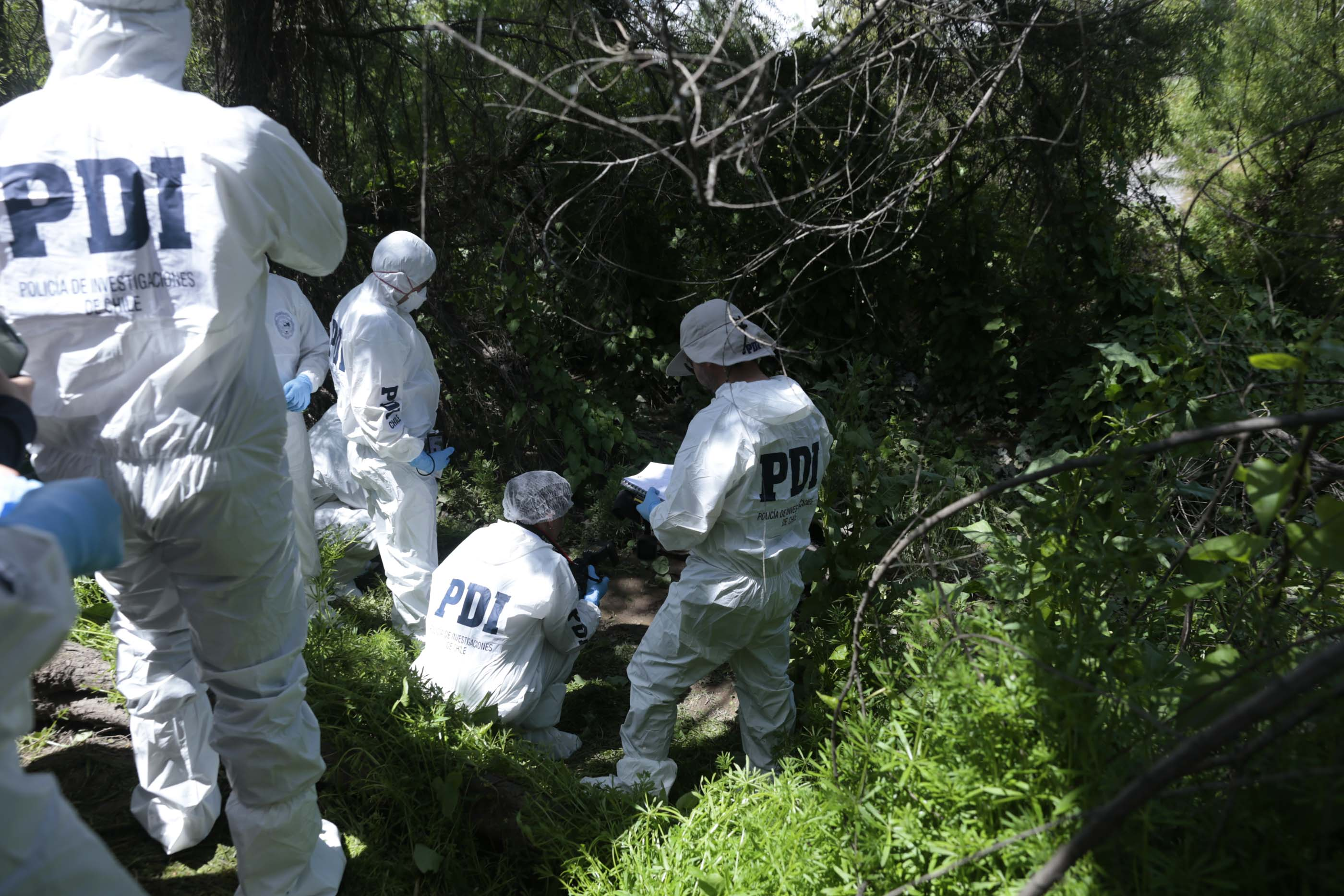 PDI Investiga hallazgo de cadáver al interior de canal de regadío en Machalí