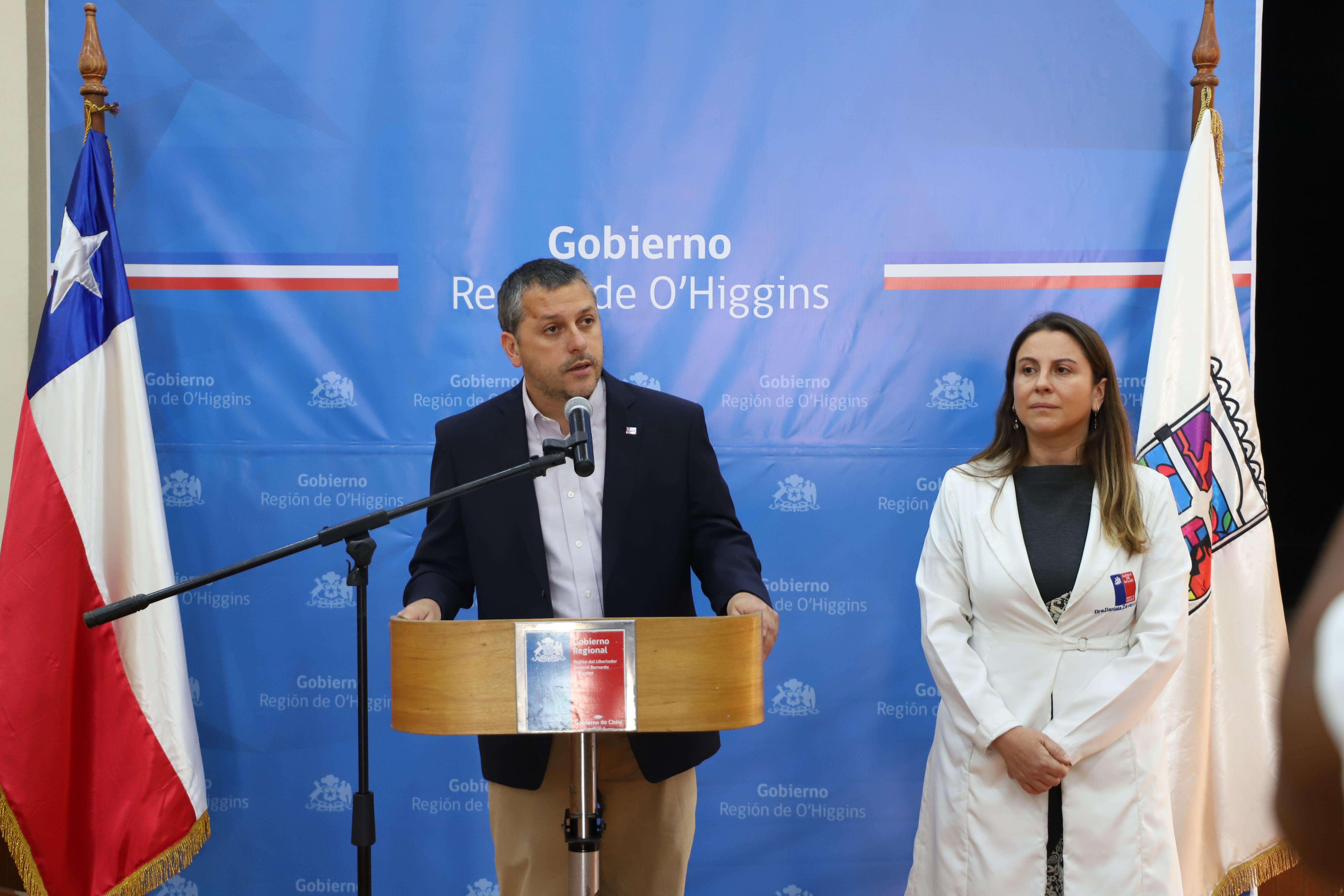 O'Higgins: Intendente Masferrer confirma dos primeros casos de Coronavirus en la región