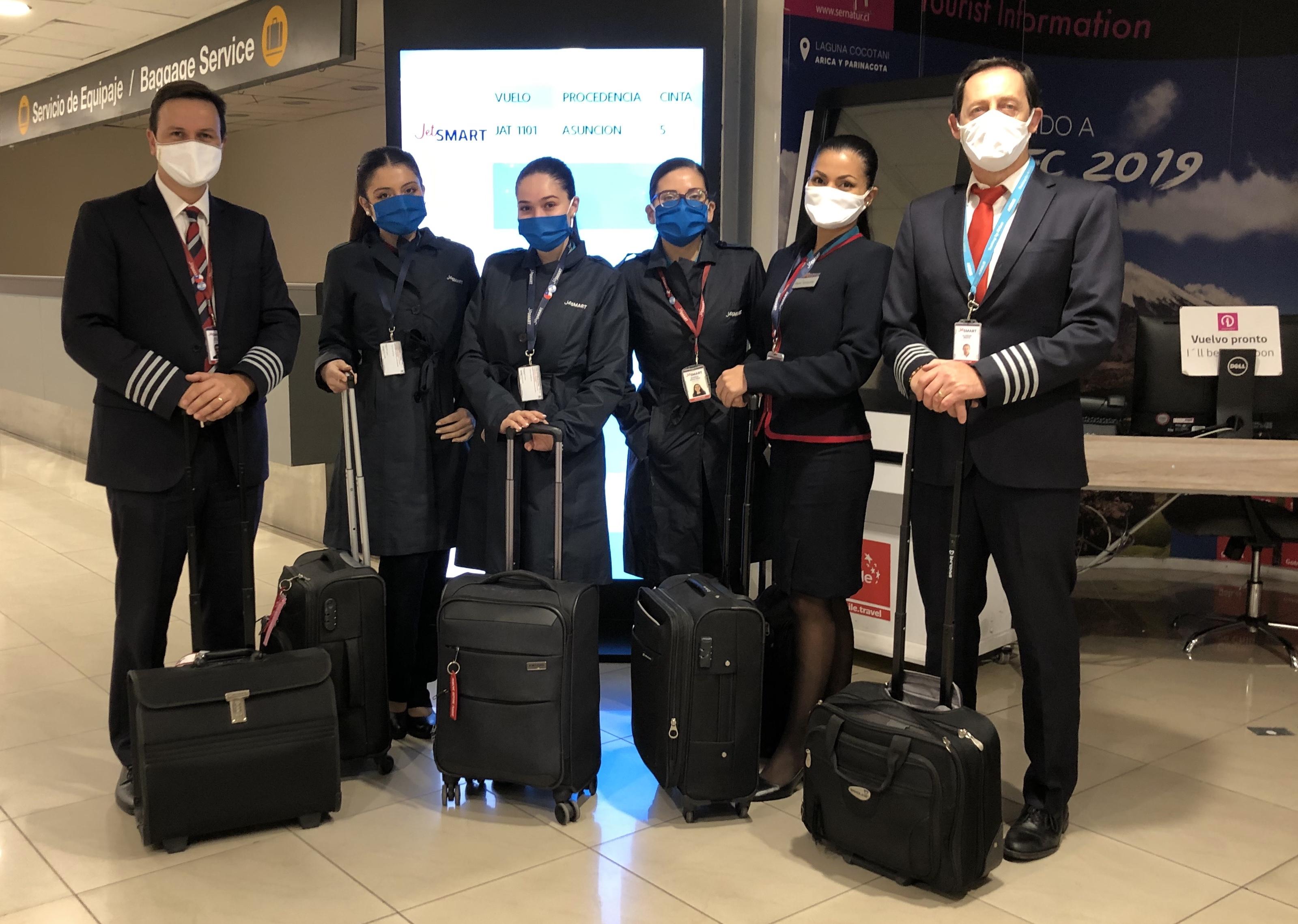JetSMART realizó vuelo especial entre Santiago y Asunción para repatriar ciudadanos de ambos países
