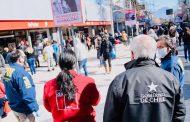 Autoridades fiscalizan cumplimiento de medidas sanitarias  en el centro de Rancagua