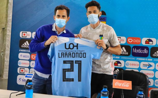Marcelo Larrondo fue presentado oficialmente como nuevo jugador de O'Higgins FC