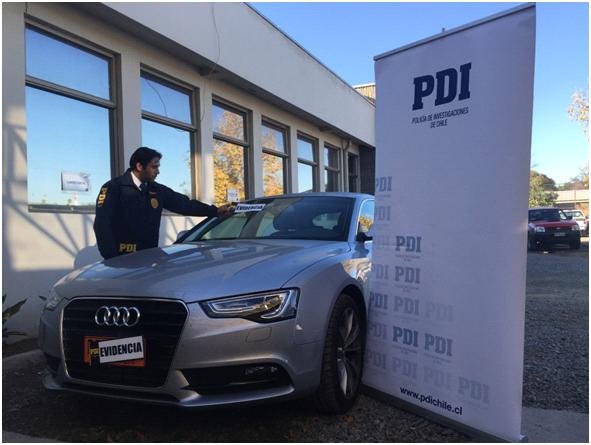 PDI Rancagua recupera vehículo robado avaluado en $38.000.000