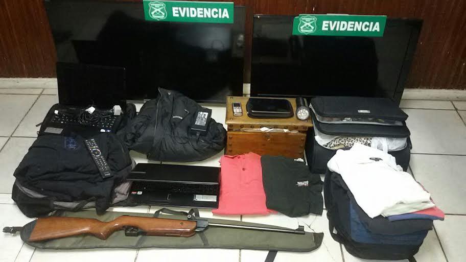 Desarticularon banda especializada en robar en casas de Machalí y Rancagua