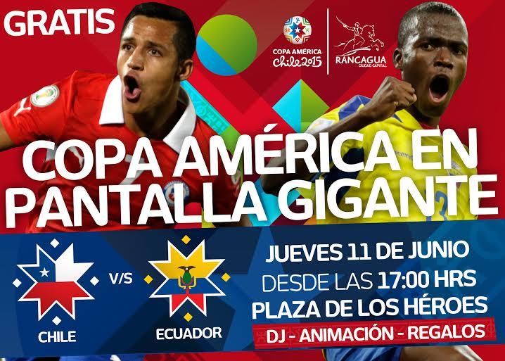 Alcalde de Rancagua anunció pantalla gigante  para debut de Chile en Copa América