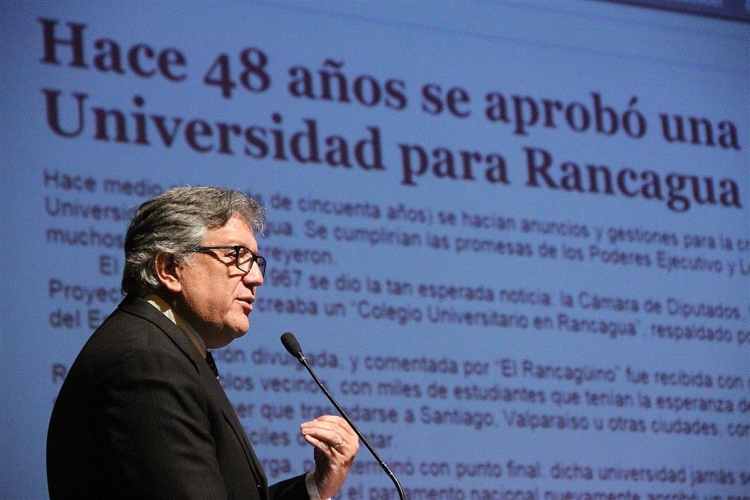 Rancagua presenta pergaminos para albergar la nueva universidad estatal de O'Higgins