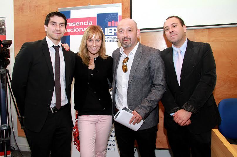 Periodista Rodrigo Vera y Soledad Bacarreza dictan seminario deportivo en AIEP Rancagua
