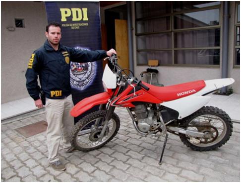 En San Fernando fue recuperada una de las diez motos robadas a Jeremías Israel