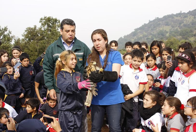 Niños de Doñihue participaron en liberación de especies silvestres protegidas