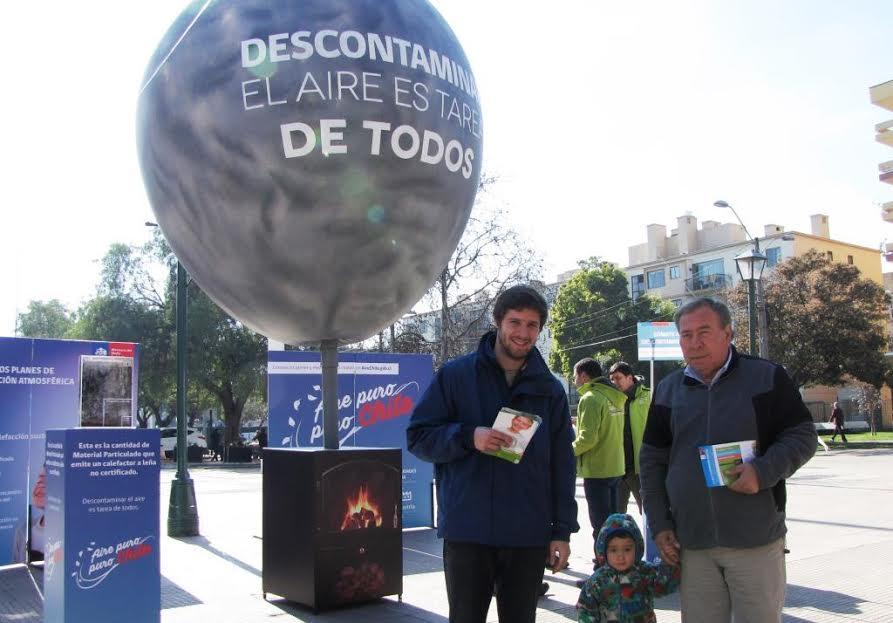 Ministerio del Medio Ambiente lanzó en Rancagua campaña para concientizar sobre la importancia de implementar una calefacción sustentable