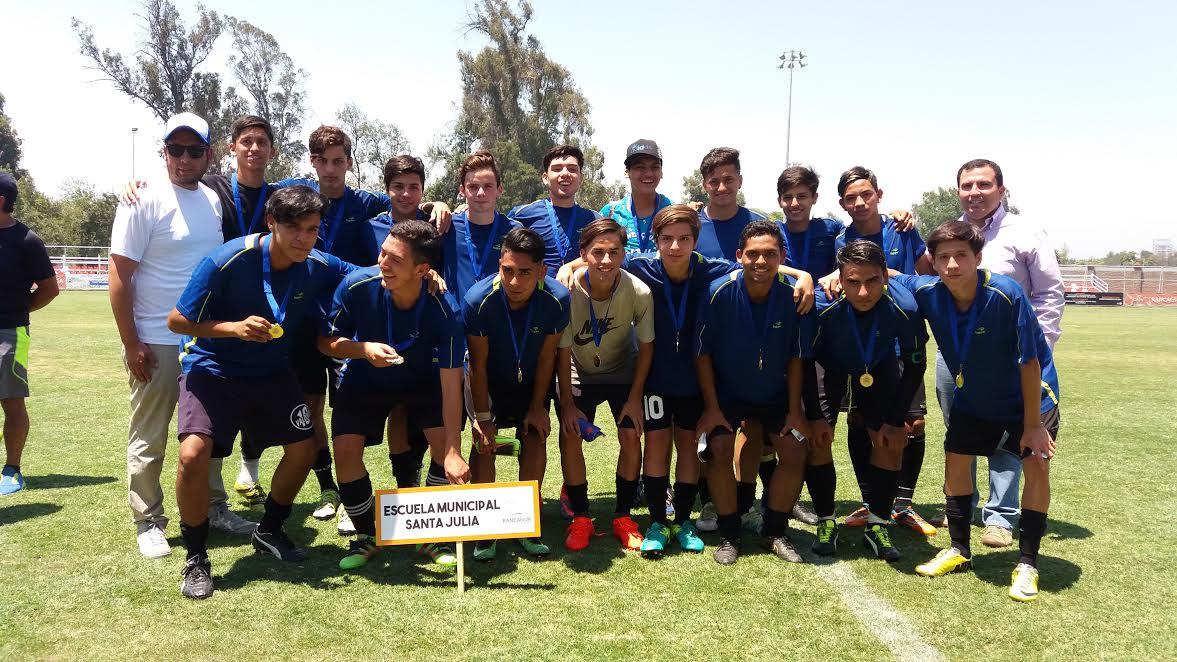 "Escuela Municipal de Fútbol Santa Julia ganó Torneo ""Rancagua Crece"""