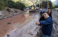 Se reiniciaron labores de despeje en la ruta a las Termas del Flaco