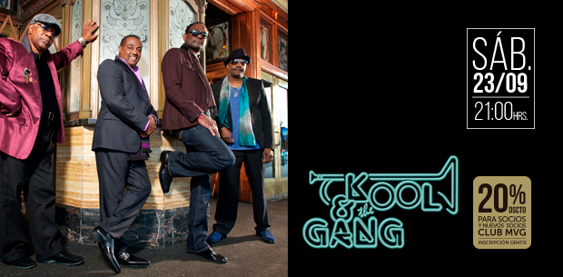 Kool & the Gang tendrá un único concierto en Gran Arena Monticello