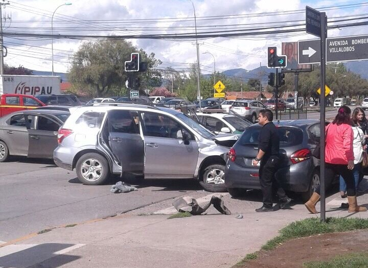 Persecución policial terminó en violento choque en Rancagua