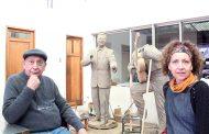 Se inaugura escultura de los hermanos Gatica en el Teatro Regional de Rancagua